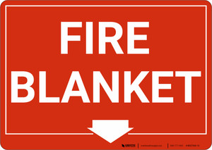 Fire Blanket with Arrow Landscape - Wall Sign
