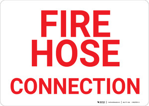 Fire Hose Connection Landscape - Wall Sign