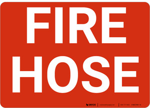Fire Hose Red Landscape - Wall Sign