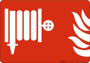Fire Hose Standpipe Symbol NFPA Landscape - Wall Sign