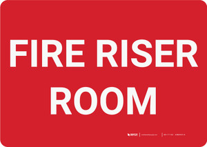 Fire Riser Room Landscape - Wall Sign