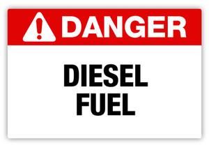 Danger - Diesel Fuel Label