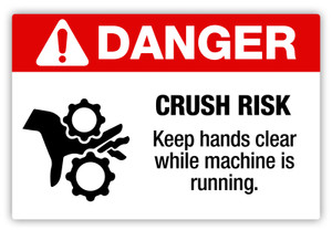 Danger - Crush Risk Label