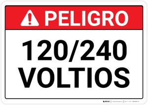 Danger: 120 over 240 Volts Spanish Landscape - Wall Sign