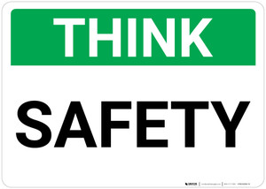 Think: Safety Landscape - Wall Sign