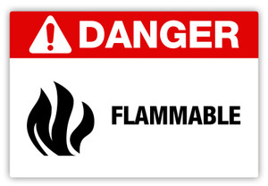 Danger - Flammable Label