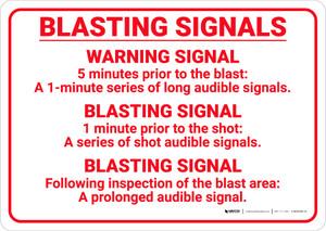 Blasting Signals Landscape - Wall Sign