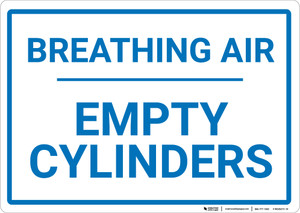 Breathing Air Empty Cylinders Landscape - Wall Sign
