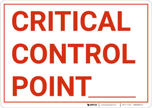 Critical Control Point Landscape - Wall Sign