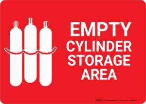 Empty Cylinder Storage Area with Icon Landscape - Wall Sign