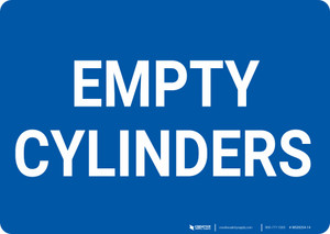Empty Cylinders Landscape - Wall Sign