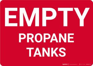 Empty Propane Tanks Landscape - Wall Sign