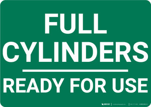 Full Cylinders Ready For Use Landscape - Wall Sign