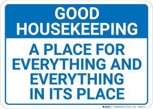 Good Housekeeping A Place For Everything Landscape - Wall Sign