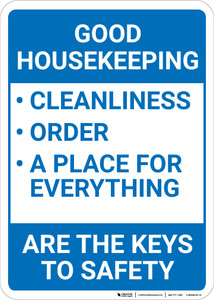 Good Housekeeping The Keys To Safety Portrait - Wall Sign