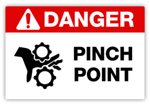 Danger - Pinch Point Label