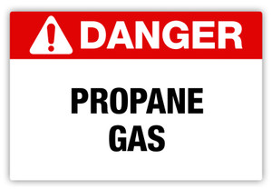 Danger - Propane Gas Label
