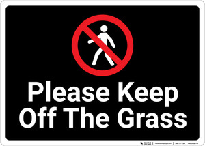 Please Keep Off The Grass with Icon Landscape - Wall Sign