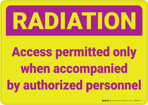 RADIATION Caution Lock Out Radiation Source with Icon Portrait - Wall Sign