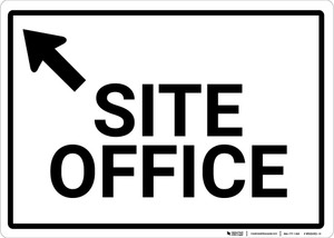 Site Office with Up Arrow Landscape - Wall Sign