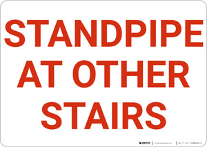 Standpipe At Other Stairs Landscape - Wall Sign