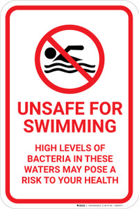 Unsafe For Swimming with Icon Portrait - Wall Sign