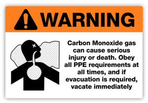 Warning - Carbon Monoxide Label
