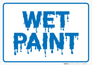 Wet Paint Landscape - Wall Sign
