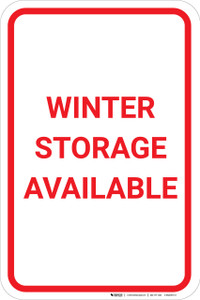 Winter Storage Available Portrait - Wall Sign