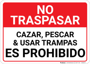 No Trespassing Posted Private Property Spanish Landscape - Wall Sign
