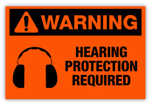 Warning - Hearing Protection Required Label