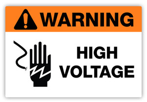 Warning - High Voltage Label