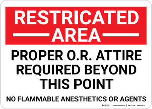 Restricted Area Proper OR Attire Required Landscape - Wall Sign