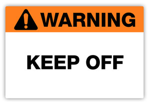 Warning - Keep Off Label
