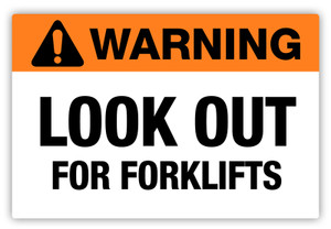 Warning - Look Out Label