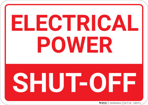 Electrical Power Shut Off Landscape - Wall Sign