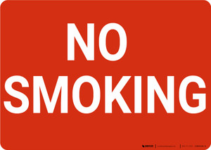 No Smoking Red Landscape - Wall Sign