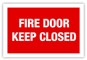 Fire Door Label