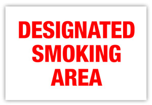 Designated Smoking Area Label
