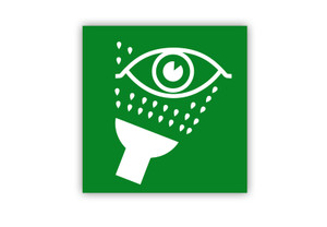 Eye Wash Symbol Label