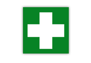 First Aid Symbol Label