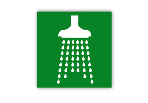 Safety Shower Symbol Label