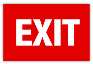Exit Label (Red)