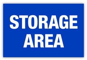 Storage Area Label