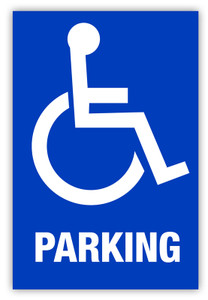 Handicap Parking Label