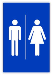 Unisex Restroom Label