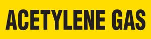 Acetylene Gas Pipe Marking Wrap (Yellow/Black)