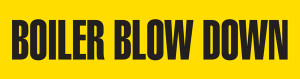 Boiler Blow Down Pipe Marking Wrap (Yellow/Black)