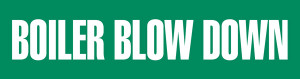 Boiler Blow Down Pipe Marking Wrap (Green/White)