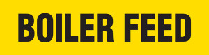 Boiler Feed Pipe Marking Wrap (Yellow/Black)
